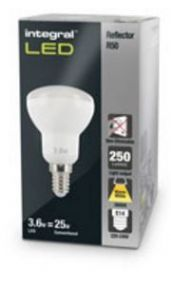 R50 Reflector LED Bulb | 25W Equivalent  | Warm White | E14 Non-Dimmable Lamp